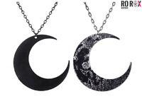 Restyle Crescent Half Moon Gothic Occult Alternative Wicca Long Pendant Necklace