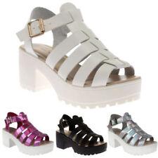 Sandalias con plataforma de mujer de sintético Talla 36