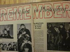 The Beatles, Two Page Vintage Clipping