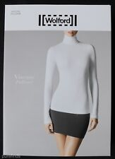 Wolford Viscose Turtleneck Pullover Top Size Small in Silver Cloud
