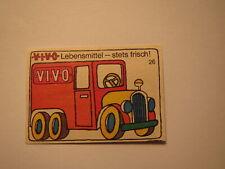 Vivo Lebensmittel - stets frisch - LKW / Streichholzetikett