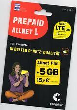 0175-64xx144  CONGSTAR Sim PREPAID ALLNET L  - 5 GB Daten 15€ GUTHAB Allnet-Flat