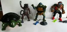LOT OF 4, PLAYMATE TOYS TEENAGE MUTANT NINJA TURTLE. ACTION FIGURES (0387)