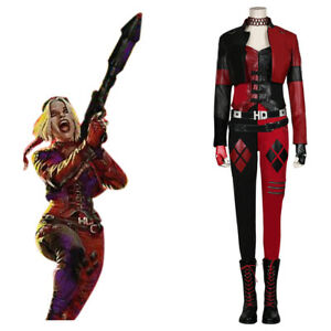 The Suicide Squad Harley Quinn Halloween Outfit Suit Cosplay Uniform Costume