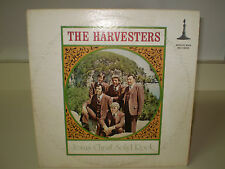"THE HARVESTERS....""JESUS CHRIST SOLID ROCK""......RARE HTF OOP GOSPEL ALBUM"