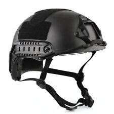Black Tactical Airsoft Paintball Climbing Protective Combat FAST Helmet & Goggle
