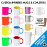 Custom Printed Mugs & Coaster • Personalised Print Cup Logo Image Photo Bulk Mug