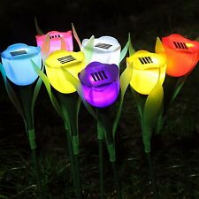 6pcs Waterproof Solar Power Flower LED Lights Garden Path Landscape Lamp Lights