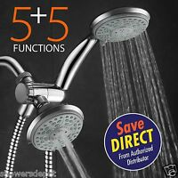 HotelSpa® 24-Setting Shower Head and Handheld Shower Combo