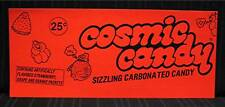 Graphic Sizzling Cosmic Candy Vending Machine Sign