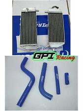 GPI Aluminum radiator &hose FOR Yamaha YZ125 2005-2013 06 07 08 2009 2010 11 12
