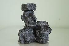 Terrarium oder Aquarium Detailliert Stein Gesicht Verzierung 11 x 6 x 13 cm