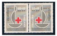 THAILAND 1963 Red Cross (Pair) CV $ 2.40