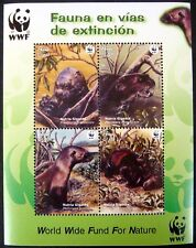 2004 MNH WWF PERU GIANT OTTER STAMPS SHEET OF 4 WILDLIFE NATURE WILD ANIMAL
