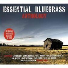 ESSENTIAL BLUEGRASS ANTHOLOGY 2 CD (BILL MONROE, JIM&JESSE, MAC WISEMAN...) NEW!