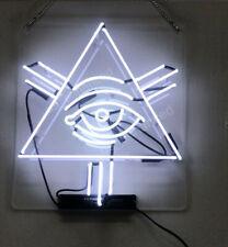 "Eye Triangle Neon Sign Acrylic Gift Light Lamp 17""x17"""