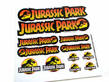 JURASSIC PARK 'DIE CUT' LOGO STICKERS - EXPLORER & CLASSIC LOGO'S - 12 IN TOTAL!