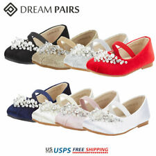 DREAM PAIRS Kids Girls Flat Shoes Casual Mary Jane Shoes Princess Wedding shoes