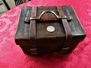 Very Old Leather Tackle Box