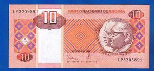 PORTUGAL ANGOLA  BANKNOTEN  10 Kwanzas 10-1999 Jose Eduardo Santos PIC#145 UNC