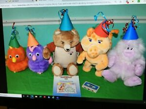 1985 WOW RESTORED TEDDY RUXPIN & GRUBBY W/CORD 40 BOOKS,TAPES & 10 OUTFITS