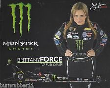 "2015 BRITTANY FORCE ""MONSTER ENERGY"" TOP FUEL NHRA HANDOUT/POSTCARD"