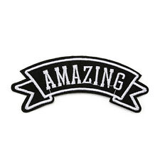 1Pc Embroidered Sew Iron on Patch Letters Motif Badge Bag Applique Fabric Cloth