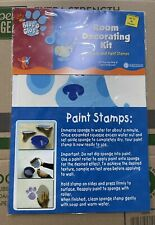 2003 Nick Jr Blues Clues room decorating kit 16 stickers 2 paint stamps