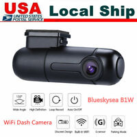 B1W 1080P WiFi Capacitor Mini Car Dash Camera Recorder 360° Rotate Parking mode