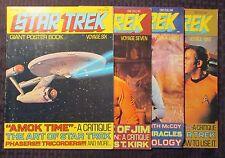 1970's STAR TREK Giant Poster Book #6 7 8 9 FN+ 6.5 LOT of 4 William Shatner