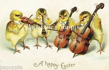 Easter Fabric Block Victorian Easter Chicks Quartet Peep Show