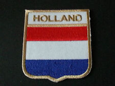 BACKPACKERS NATIONAL COUNTRY SHIELD FLAG SEW/IRON ON PATCH:- HOLLAND