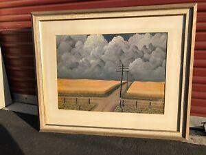 John Rogers Cox Grey And Gold 1949 Fine Art Print Framed Cleveland M Of A Vntge