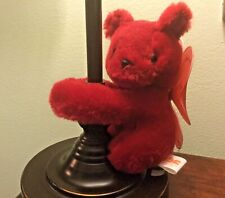 """PBC International - Red Bear with wings plush 6"""" soft cute with velcro hands"""