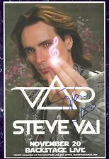 Steve Vai autographed gig poster