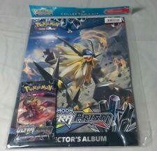 POKEMON ULTRA PRISM COLLECTORS ALBUM, POSTER & 1 BOOSTER BRAND NEW & SEALED