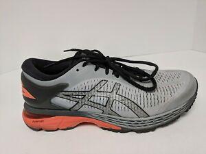 Asics Gel-Kayano 25 Running Shoe, Grey/Orange, Men's 8 M