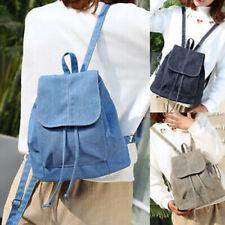 Women Denim Backpack Small Mini School Bags Travel Rucksack Canvas Shoulder Bag
