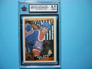 1984/85 O-PEE-CHEE NHL HOCKEY CARD #208 WAYNE GRETZKY AS KSA 8.5 NM/MT+ OPC