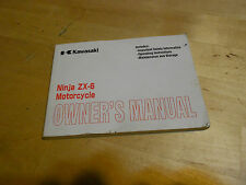 Kawasaki Ninja Zx-6 Owners Manual 99987-1061
