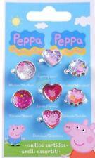 Peppa Pig 7 Rings Set Toy Dress up Days of Week Loot Party Bag Filler PP UK
