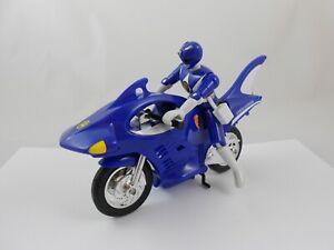 Mighty Morphin Power Rangers Blue Shark Cycle + Figure Motorcycle Bandai