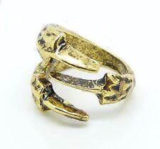 Bague griffe de dragon couleur bronze doré