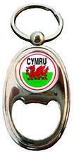 Welsh Red Dragon Wales National Flag Cymru Oval Bottle opener Keyring Charm