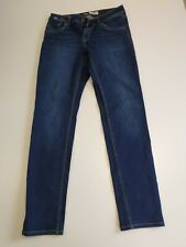 HH149 WOMENS SUPERDRY IMOGEN SLIM BLUE SKINNY STRETCH DENIM JEANS UK 12 W30 L32