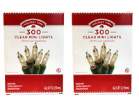 Holiday Time 600 Clear Mini Christmas Lights, White Wire - FREE Shipping