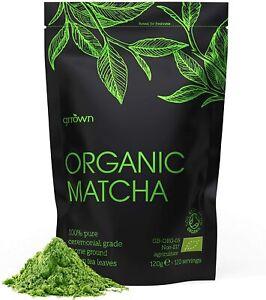 Organic Matcha Green Tea Powder - 120g - Ceremonial Grade - 100% Pure Premium