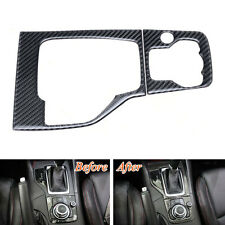 Real Carbon Fiber Console Gear Shift Panel Cover Trim For Mazda 3 Axela M3 14-16