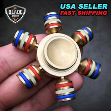 Glowing Brass Hand Spinner Fidget Ceramic Ball Desk EDC Focus Toy Kids/Adult DIY