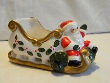 Vintage Vitabath Ceramic Santa'S Christmas Sleigh Taiwan
